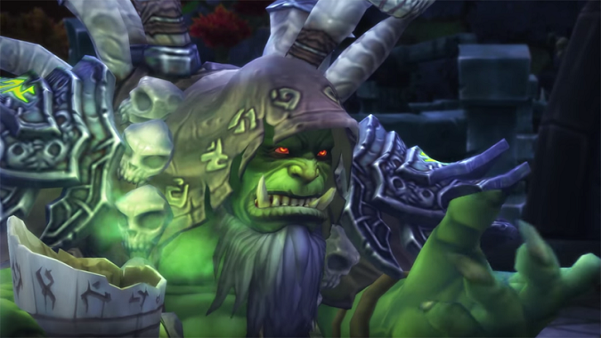 Gul'dan offers a tasty beverage