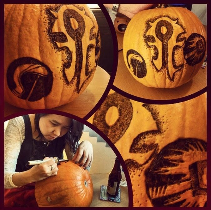 blizzcrafts pumpkin wood burning