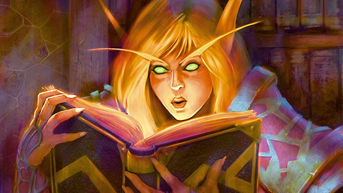 Arcane_Sanctum_Header_TCG_blood_elf_mage_with_book