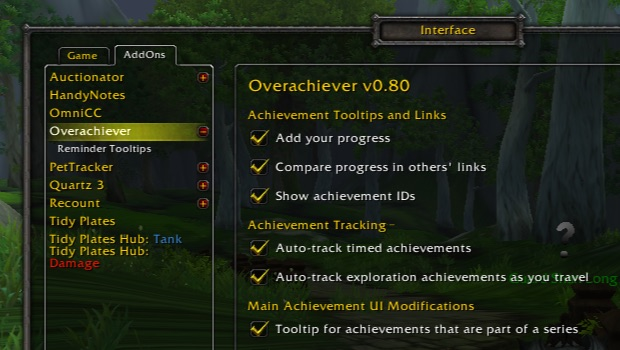 blizzard achievementui