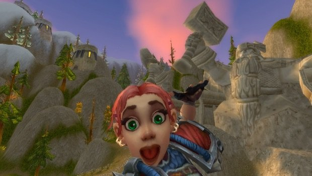 gnome excited selfie