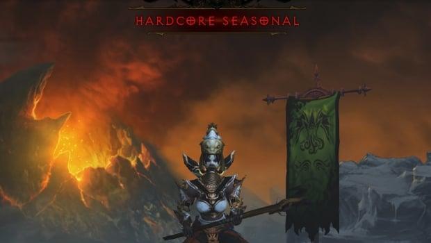 Diablo 3 Seasonal Hardcore screen