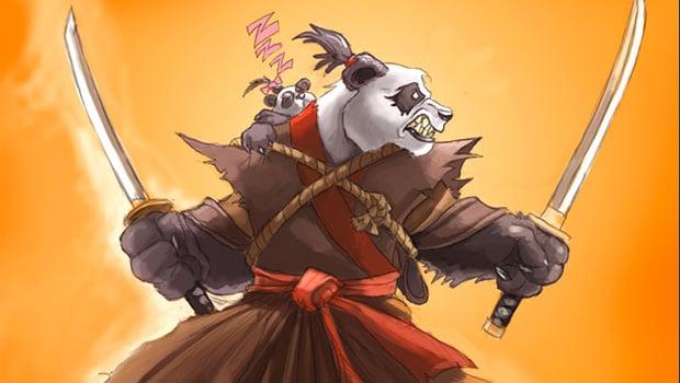 Pandaren dual-wielding swords, by Samwise Didier