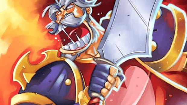 Leeroy Jenkins on his Trading Card Game art