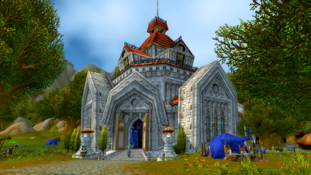 Northshire Abbey, where paladins first begin.
