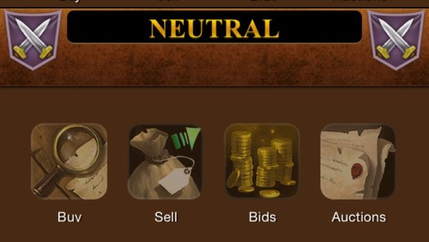 WoW Mobile Auction House screenshot (WoW Armory app for iOS)
