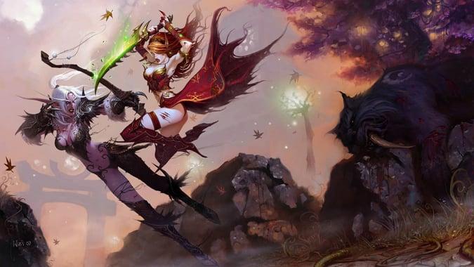 bloodelf-vs-nightelf_combat