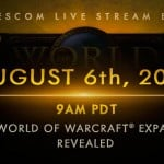 New World of Warcraft expansion to be revealed August 6 at Gamescom