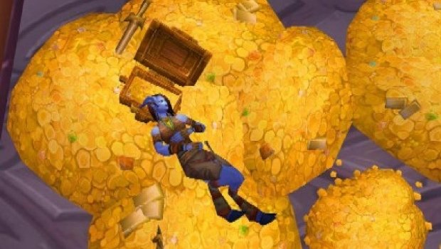 Sleeping on piles of WoW gold.