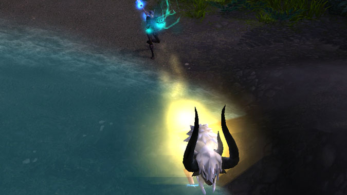 Monk casting Charging Ox Wave
