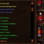 Support legendaries and sets in Diablo 3