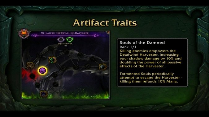 Affliction warlock artifact UI