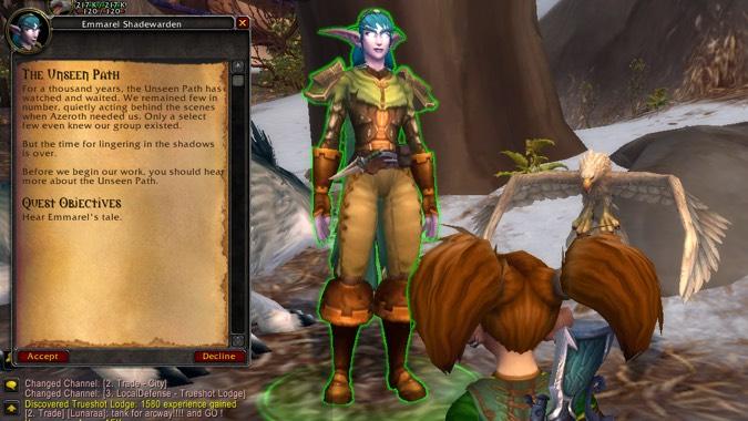 hunter unseen path quest text 1