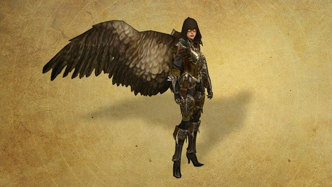 D3 Demon Hunter with Falcon's Wings