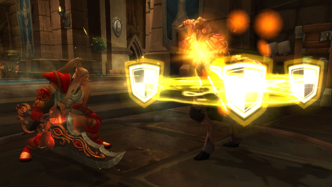 Ret Paladin fighting a Prot Paladin