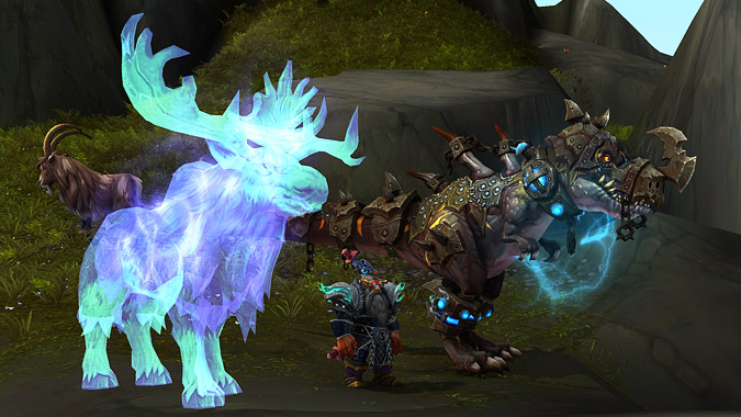 New Spirit Beast tamed! Yes, that is Thok the raid boss on the other side.