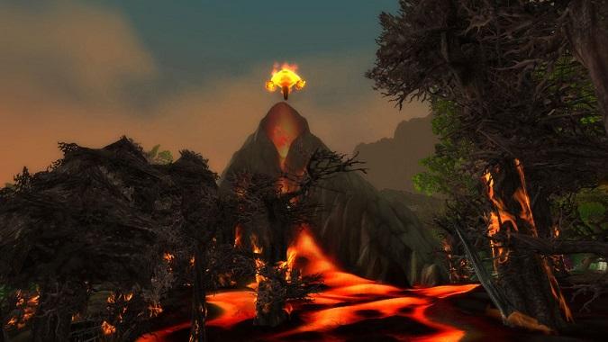 ashenvale volcano