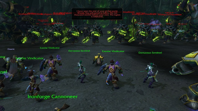 Tankadin versus the Legion