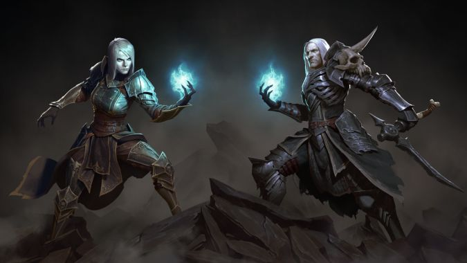 Diablo 3 Male and Female Necromancers