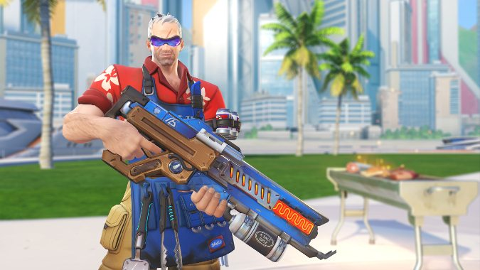 Overwatch Soldier 76 Summer Games Grillmaster cosmetic skin