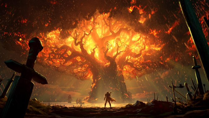 World Of Warcraft Wallpaper Bfa: The Fate Of Teldrassil In Battle For Azeroth