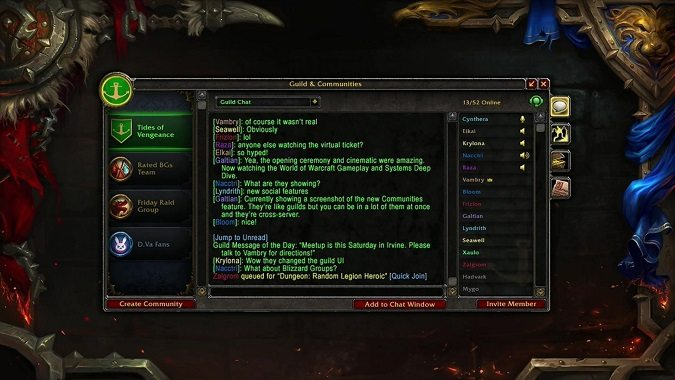 guild and community UI