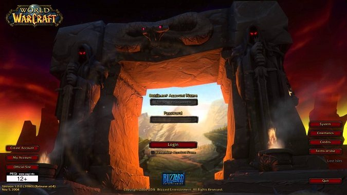classic login screen
