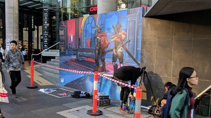 Repainted Melbourne mural from Redditor Utigarde