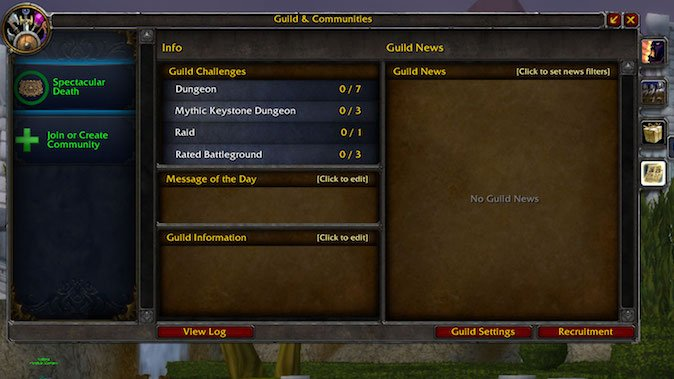 The Updated Wow Guilds And Communities Feature Doesn T Actually Help