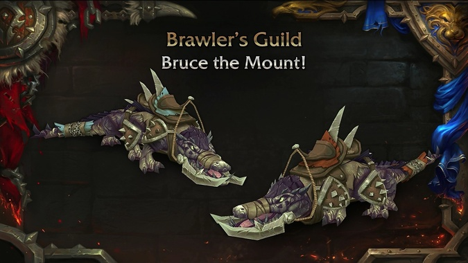 Bruce mount and matching armor coming in patch 8.1.5 -- Who doesn't want to ride their own crocolisk?