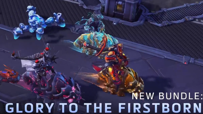 Protoss Reavers have been dropped into the Nexus
