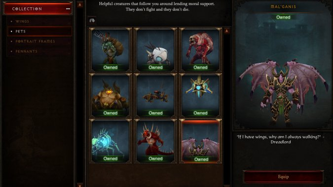Warcraft 3: Reforged Diablo 3 Cosmetic Pet