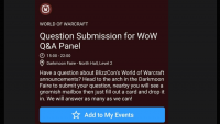 No, WoW won't have an open Q&A at BlizzCon, because they haven't for years