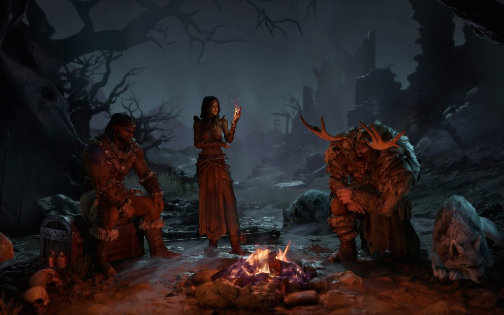 Campfire character selection screen