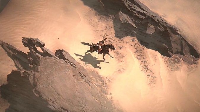 Diablo 4 mount in the desert