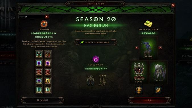 Diablo 3 Season 20 Details