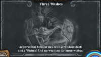 You've never had a friend like Zephrys in Hearthstone's Three Wishes Tavern Brawl