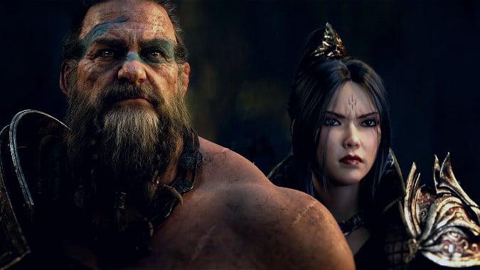 Diablo Immortal Barbarian and Wizard