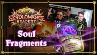 All of the Soul Fragment cards for Warlocks and Demon Hunters in Hearthstone's Scholomance Academy