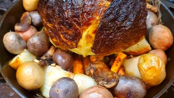 Maple glazed roast Cabbage