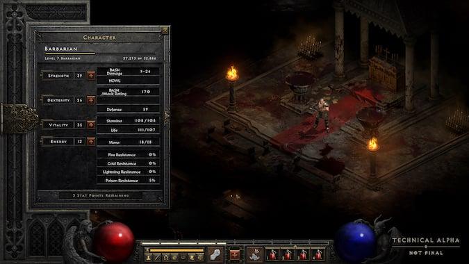Diablo 2 Resurrected - Character Sheet (technical alpha)